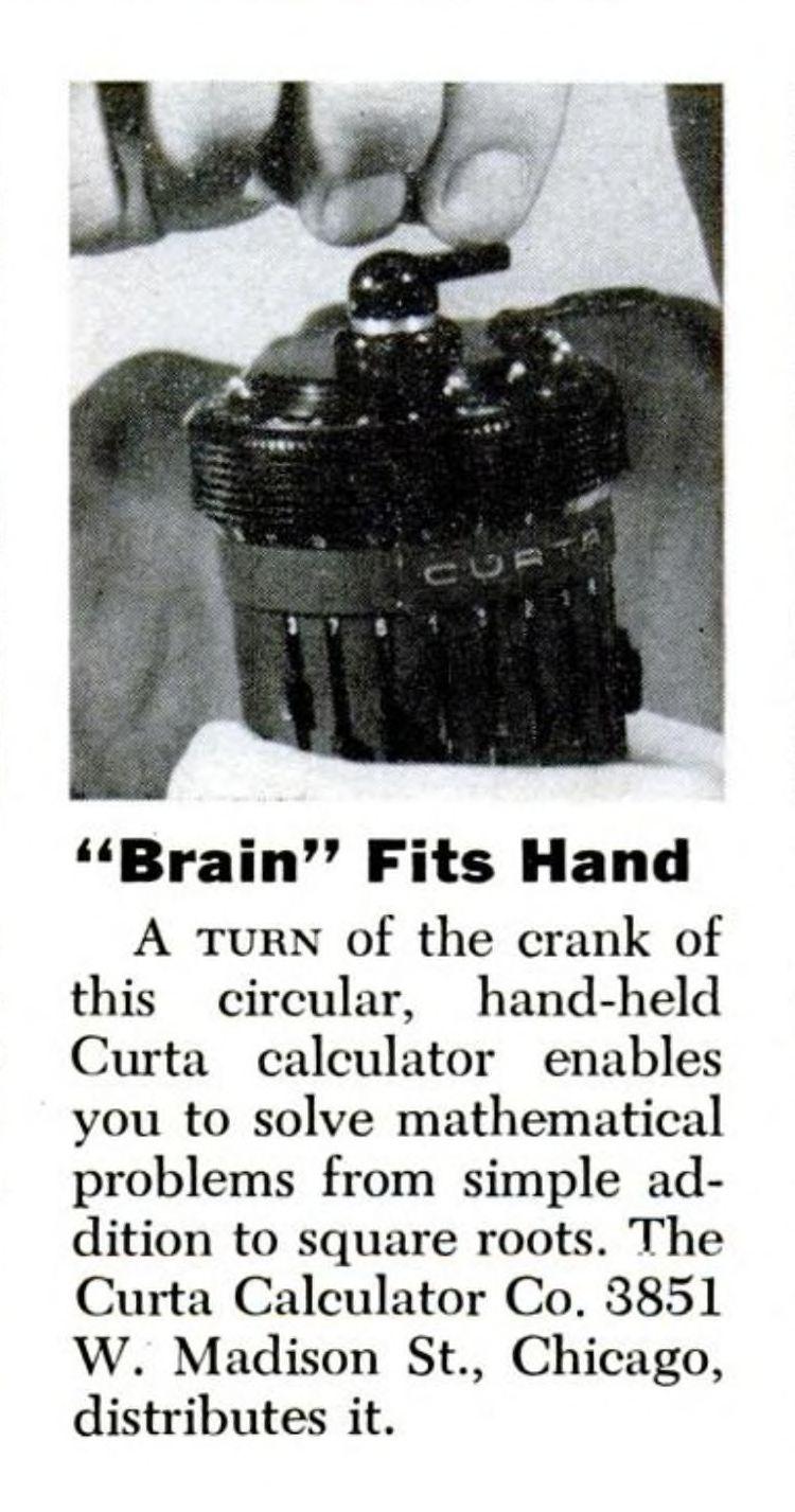 Curta calculator dating