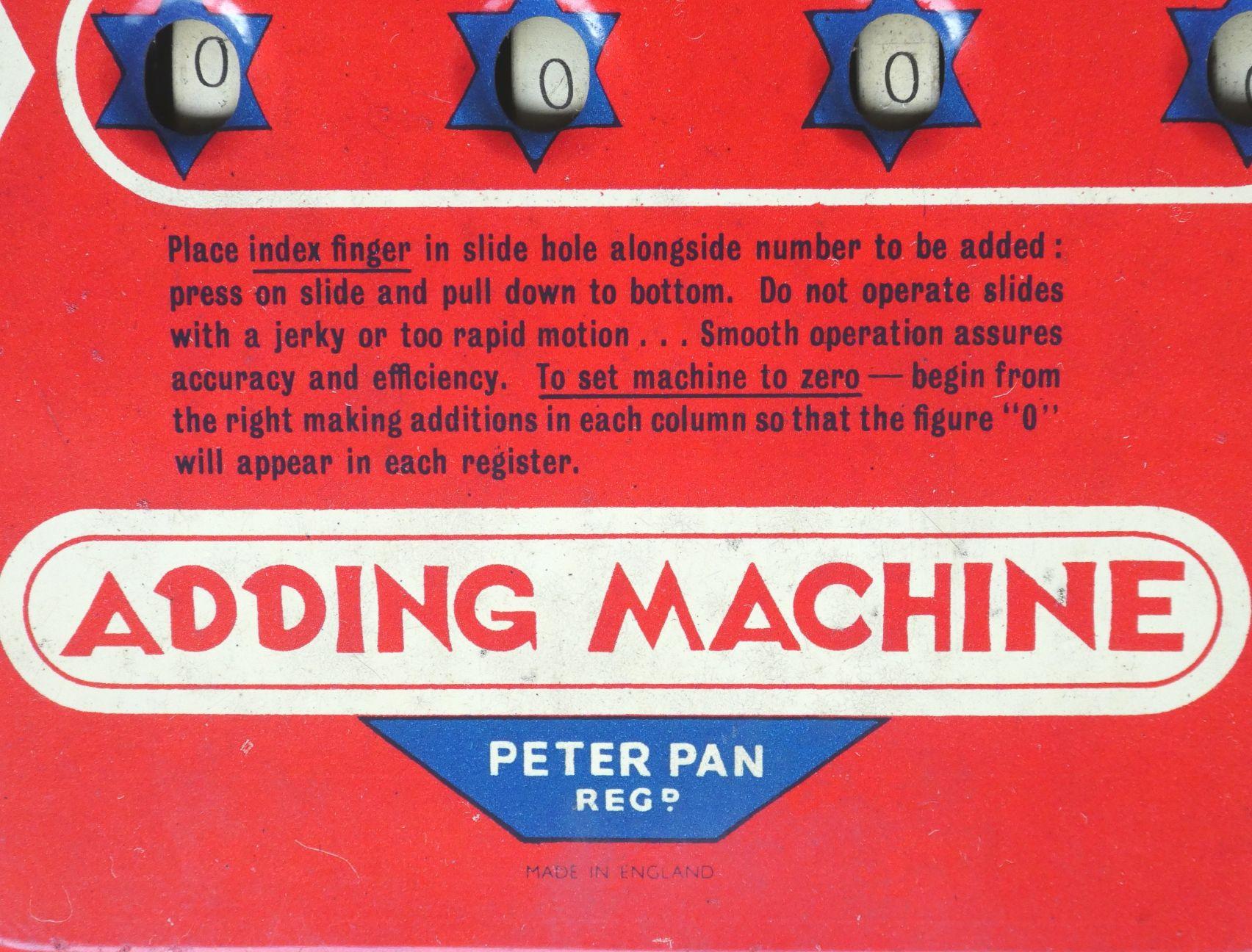 Peter Pan Adding Machine - Jaap's Mechanical Calculators Page