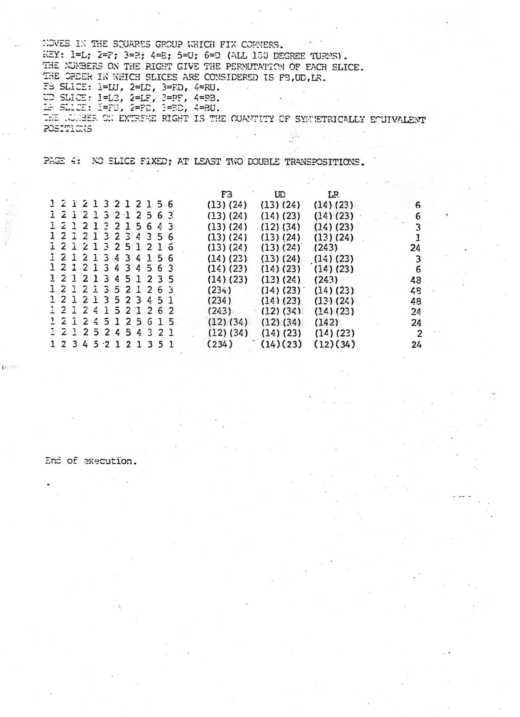 Thistlethwaiteu0027s 52 Move Algorithm  2 1 Degree